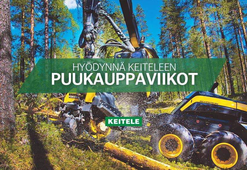 Työnäyte: Keitele Forest, banneri, verkkomainos