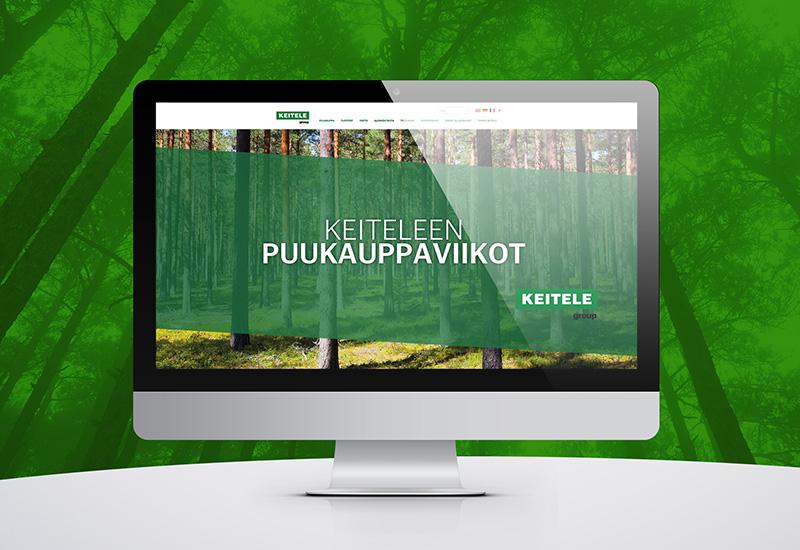 Työnäyte: Keitele Forest, kampanjasivu, digimarkkinointi