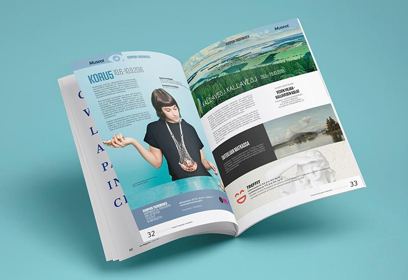 Työnäyte: Kuopion kaupunki, Kohtaamisia-lehti, kuntamarkkinointi, sisäinen markkinointi