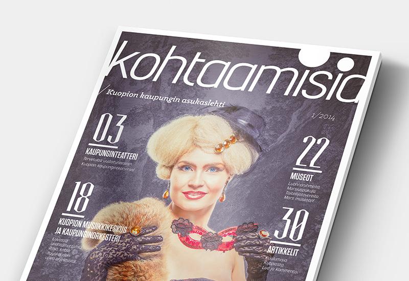 Työnäyte: Kuopion kaupunki, asukaslehti, paikan markkinointi