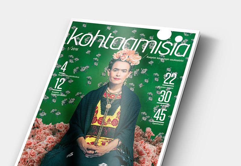 Työnäyte: Kuopion kaupunki, kohtaamisia-lehti, kaupungin markkinointi