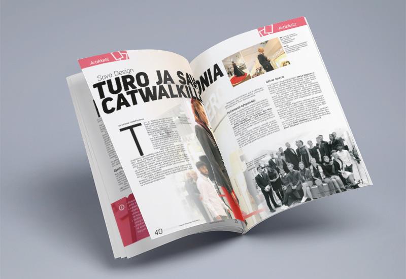 Työnäyte, Kuopion kaupunki, lehden taitto, graafinen suunnittelu