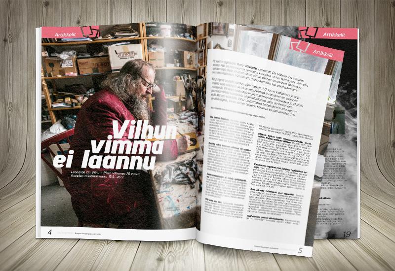Työnäyte: Kuopion kaupunki, asukaslehden taitto