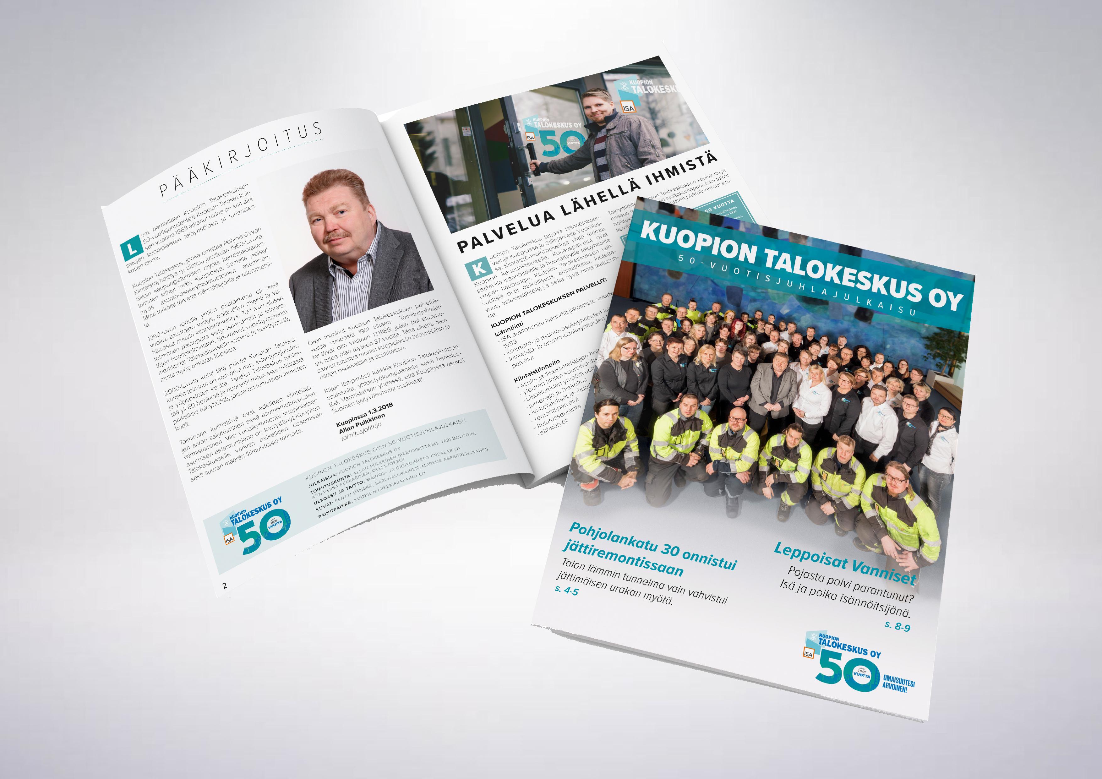 Työnäye: Kuopion Talokeskus, 50 vuotis juhlalehti